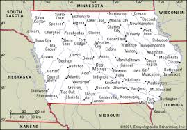 iowa map with cities iowa cgrounds and rv parks