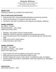 hotel receptionist resume resume sample for receptionist position