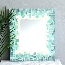 themed mirror themed mirrors nz bathroom mosaic wall style for vanity