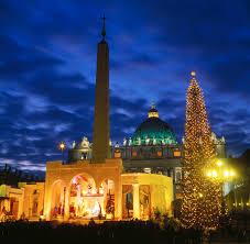 christmas tree st peters squarest peters basilica christmas