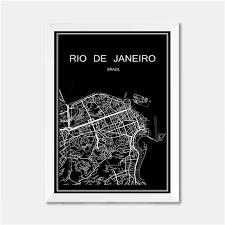 de janeiro on the world map de janeiro brazil city world map poster abstract coated paper
