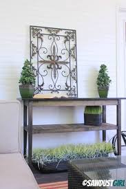 Diy Console Table Two Toned Diy Console Table Sawdust Girl