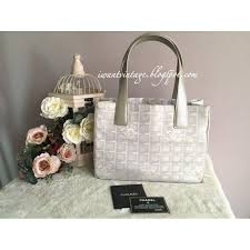 travel chanel images Chanel a20457 new travel line tote pm silver jpg