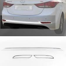 rear bumper hyundai elantra rear bumper chrome cover garnish molding for 13 14 hyundai elantra