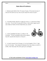 unit rate word problems worksheet worksheets