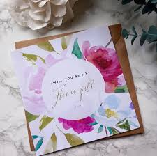 Bridesmaid Invitation Cards Watercolour Effect Will You Be My Bridesmaid Card Weddings