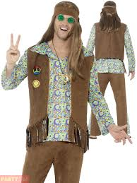 60s Halloween Costumes Adults 60s 70s Hippie Costume Mens Ladies Hippy Fancy Dress Womens