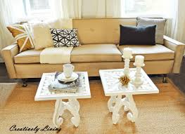Gold Sofa Living Room by Sofa Tables The Makeover Creatively Living Blog