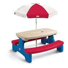 little tikes easy store picnic table little tikes easy store large picnic table with umbrella mga