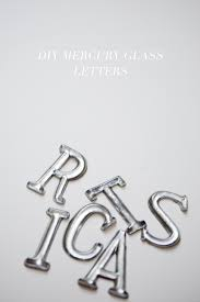 diy mercury glass letter ornaments ruffled