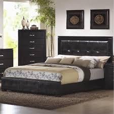 Low Profile King Bed Coaster Furniture 201401ke Dylan King Faux Leather Upholstered Low