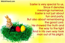 free easter speeches poems