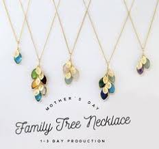 s day necklace with birthstone charms birthstone charm necklace gift gifts for