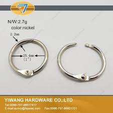 wholesale loose leaf book binder ring metal bookrings card ring