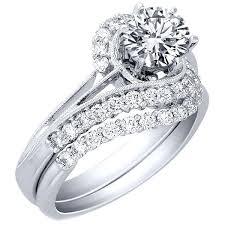 interlocking engagement ring wedding band brides wedding band princess cut diamond wedding set in kt white