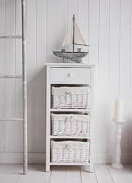 new haven tall white storage unit with baskets white bedroom