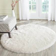 arctic shag ivory 5 ft x 5 ft round area rug products and