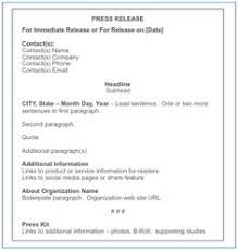 how to write a press release free press release template