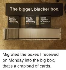 the bigger blacker box cards cards cards against against against