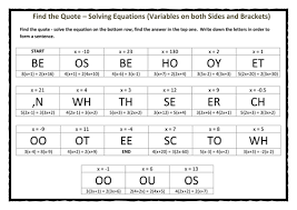 find the quote u2013 solving equations variables on both sides and