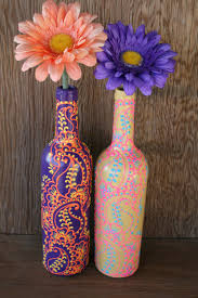 Blue Bottle Vase Doing This This Summer With All The Wine Bottles I U0027ve Been Saving
