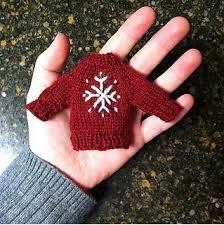 ravelry sweater ornament pattern by munson
