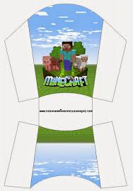 minecraft free printable boxes free birthday party printable