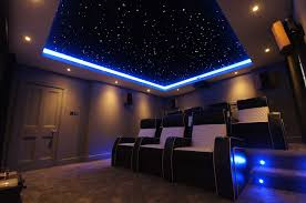 Home Theater Design Lighting Home Theater Design In Modern Style With Three Lighting Fixtures
