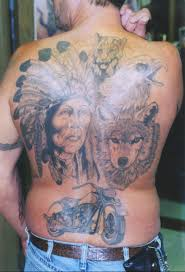 Wolf Indian Tattoos - indian wolf tiger eagle and bike indian tattoos pm
