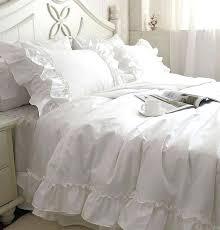 Ruffled Bed Set White Ruffled Bed Skirt White Layered White Ruffled Bed Skirt