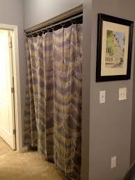 Replace Sliding Closet Doors With Curtains Closet Door With Curtains Superb Curtain Wardrobe Doors Replace