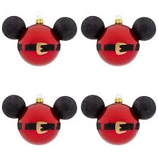 your wdw store disney ornament set of 4 santa mickey