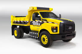 concept work truck mighty ford f 750 tonka dump truck is ready for work or play