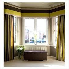 Modern Bay Window Curtains Decorating Contemporary Bay Window Curtains Bay Window Design Fancy Cool