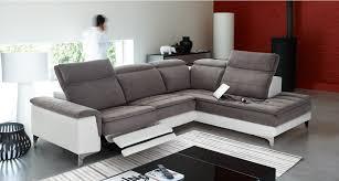 canape angle bi matiere salon d angle bi matière avec 3 têtières relevables toulon