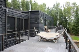 tamko evergrain composite decking deck modern with glass doors