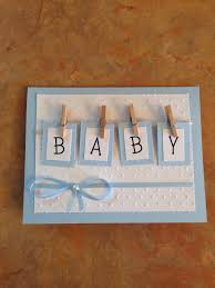handmade baby shower card tiny clothespins attach boxes with