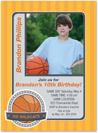 basketball hobby cards photo birthday invitations stationery