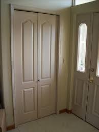 Wood Sliding Closet Door by Double Closet Doors Escon Doors Mp6004wp2 4panel Primed White