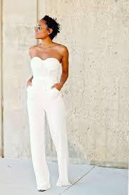 white jumpsuit wedding bridal jumpsuits and pantsuits aisle