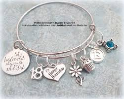 Birthday Charm Bracelet 18th Birthday Gift For Daughter Happy Birthday Charm Bracelet