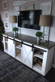 build a farmhouse style tv console sideboard remodelaholic