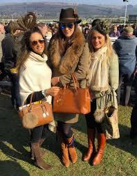 fairfax and favor spotted at cheltenham races sloane ranger