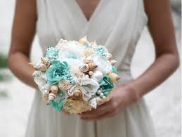 Seashell Bouquet Exquisite Beach Wedding Bouquet Ideas U2013 Weddceremony Com