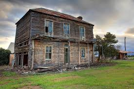 two farmhouse abandoned two storey wooden farmhouse stock photo image of