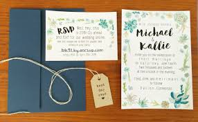 Succulent Wedding Invitations Our Succulent Invitations Wedding Wednesday But First Coffee