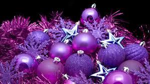 purple decorations christmas balls and stars purple christmas
