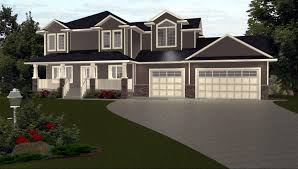 bi level house plans with attached garage 3 car garage house plans by edesignsplans ca 1