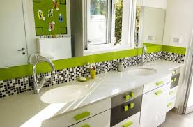 Kids Bathroom Idea - kid bathroom ideas lime green bathroom with fresh green hues and