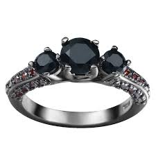 black jade band womens mens cut 3 black jade ruby rhinestone